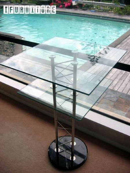 Picture of VALENCIA Glass Bar Table