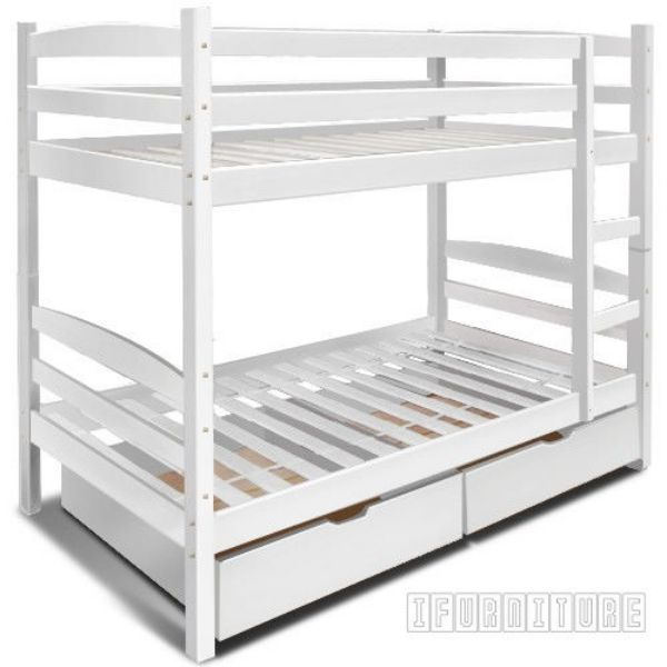 Starlet Bunk Bed With Storage White Color