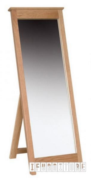 Newland Solid Oak Free Standing Cheval Mirror