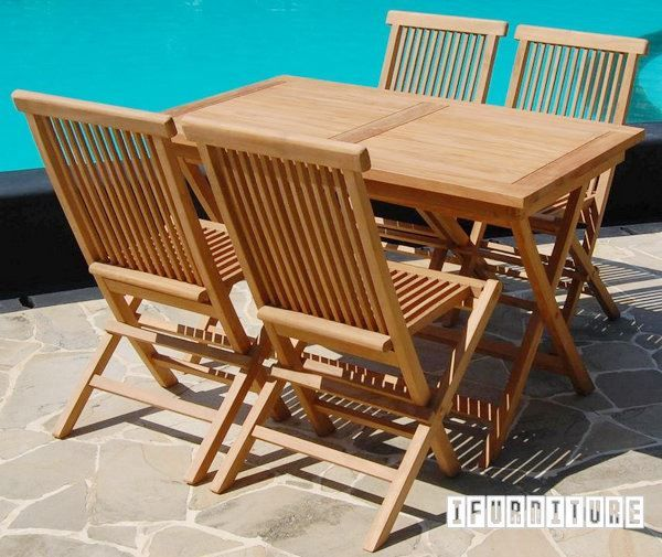 Picture of BALI Solid Teak Rectangle Folding Table Model 203B