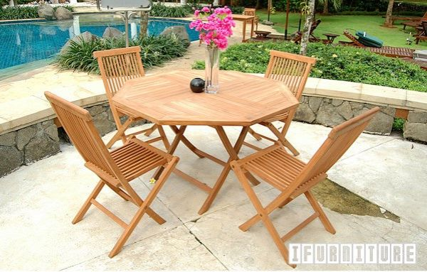 Picture of BALI Solid Teak D100 Octangle Table Model 037