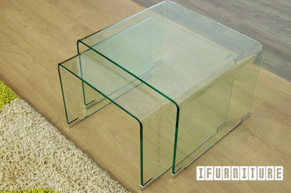 Picture of MURANO Bent Glass Nest of Table