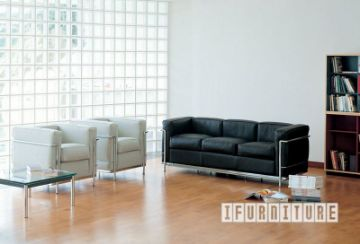 Picture of Le Corbusier LC2 Sofa Series *100% Italian Leather