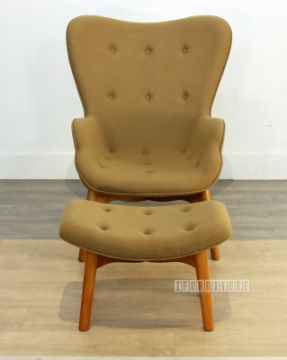 Picture of GRANT FEATHERSTON Chair with Ottoman *Fiberglass & Cashmere