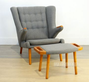 Picture of PAPA BEAR Chair with Ottoman *Wool