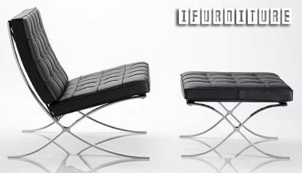 Picture of BARCELONA Chair and Ottoman *Italian Leather & BARCELONA Chair and Ottoman *Italian Leather | ifurniture ...