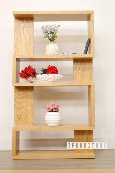 LONGITUDE BookShelf Room Divider Oak Veneer