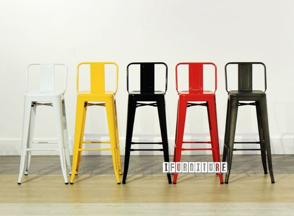 Tolix Replica Bar Stool Seat H76 With Back