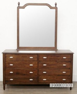 Picture of PRAGUE Dressing Table With Mirror *Silver Wattle Timber
