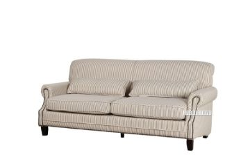 Picture of NORAH Sofa in CELERY (narrow pencil strips) Fabric