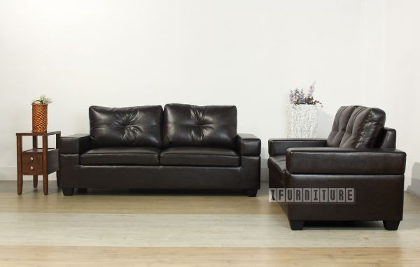 Picture of HONITON Sofa in Dark Brown *Air Leather