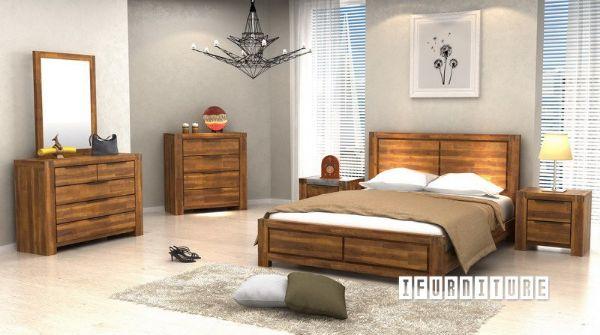 Aston Acacia Bedroom Combo In Queen Size