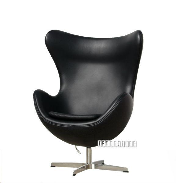 egg chair replica italian leather