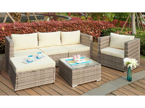 Whatipu Modular Rattan Outdoor Sofa Set