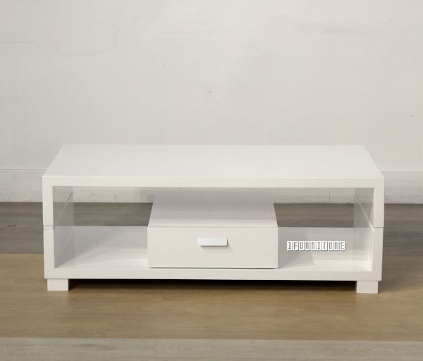 Picture of TUFFLEY 1 Drawer White High Gloss Coffee Table