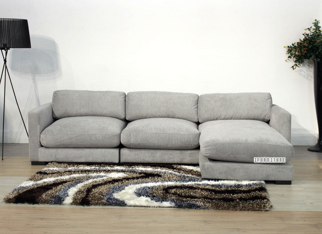 Dove Sectional Sofa Feather Filled