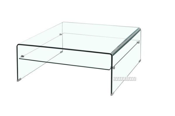 Picture Of Murano Bent Glass Square Coffee Table