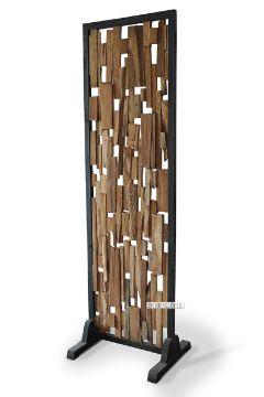 Picture of DECO T114 Room Divider Irregular Slat *Solid Teak