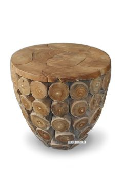 Picture of DECO T117 Round Coin Stool *Solid Teak