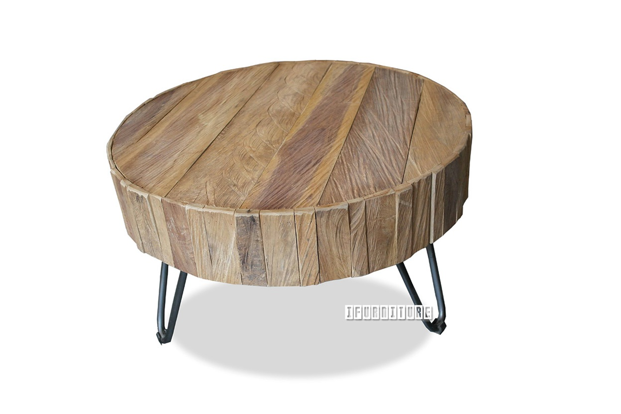 BORA Solid Teak T66 Round Coffee Table