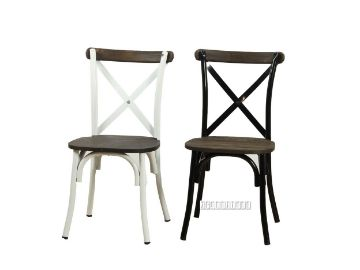 Picture of HANOVER Metal Cross Back Chair *Solid Elm Seat