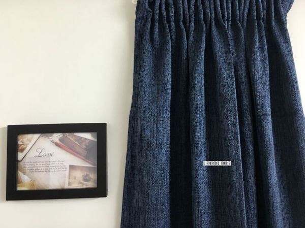 Picture of Lined Blue Readymade Curtain *8 sizes