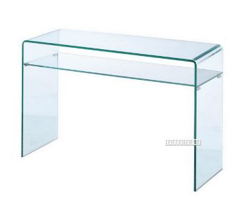 Picture of MURANO Bent Glass Hall Table with Shelf