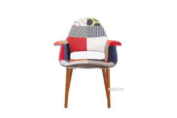 Picture of MID CENTURY MODERN ORGANIC Dining Chair *Patchwork