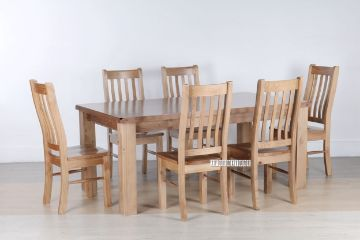 Picture of FRANCO 1.8/ 2.1m Dining Set *Solid NZ Pine