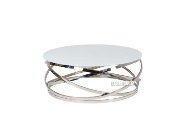Picture Of Kona Round Coffee Table White Top