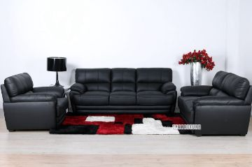 Picture of EALING Genuine Leather Sofa Range *Black