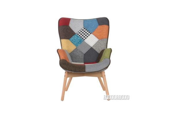 Picture of TARTAN Patchwork Dining Arm Chair + Ottoman
