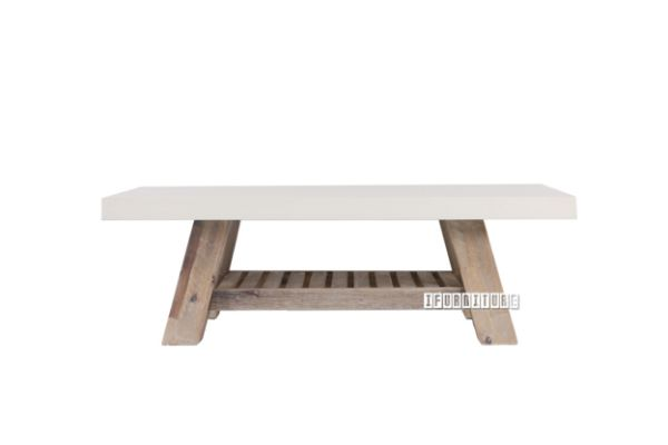 Picture of ANTON Coffee Table *White Concrete on Solid Acacia