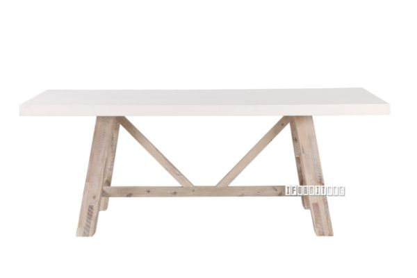 Picture of ANTON 210 Dining Table *White Concrete on Solid Acacia
