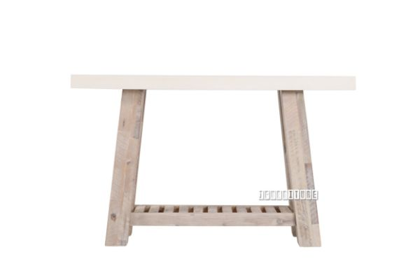 Picture of ANTON Hall Table *White Concrete on Solid Acacia