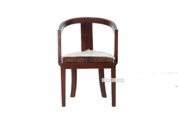 Picture of VASCO Solid Teak Arm Chair *Genuine Goathide