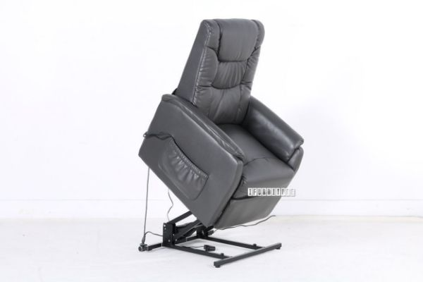 Cloud Electrical Recliner Lift With Massage Chair Dark Grey