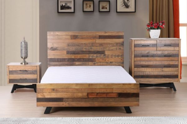 Picture of BARBADOS Reclaimed Timber Bedroom Combo in DOUBLE/QUEEN/SUPER KING SIZE