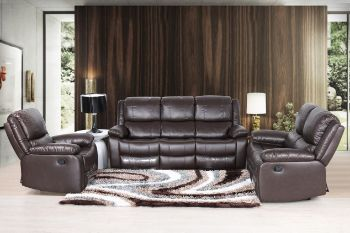 Picture for manufacturer BRIGHTON Reclining Leather Sofa 3 colours