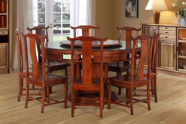 Picture of MING 9PC Dining Set*Solid Elm