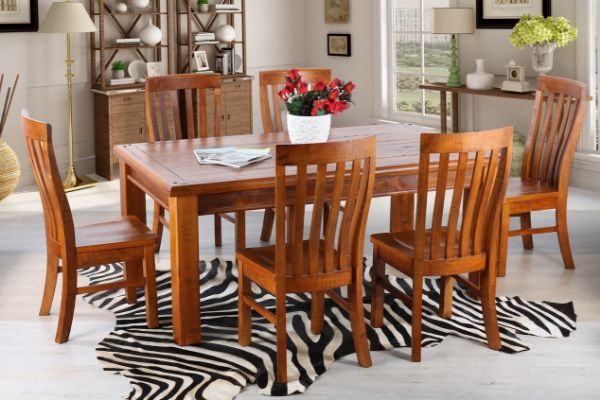 Picture of FOUNDATION Rustic Pine 1.6/1.8/2.1m 7PC Dining Set