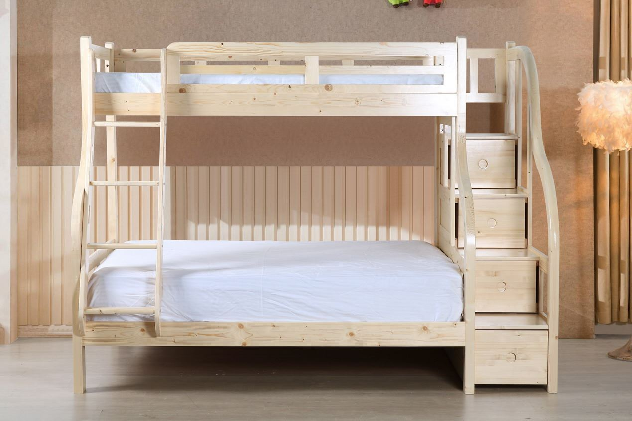 Ranger Twin over Full Bunk Bed with Storage Stairs ...