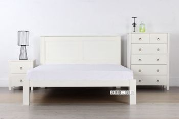 Picture for manufacturer METRO Solid Pine Bedroom Combo 3 Sizes in White Color