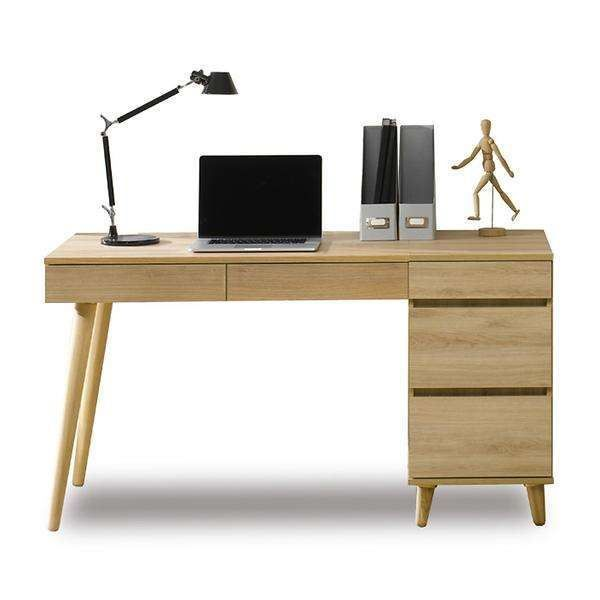 Picture of RENO Desk with 3Drawer Cabinet *Solid Wood Leg