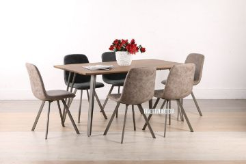 Picture of PLAZA 7PC 160 DINING SET * Brown