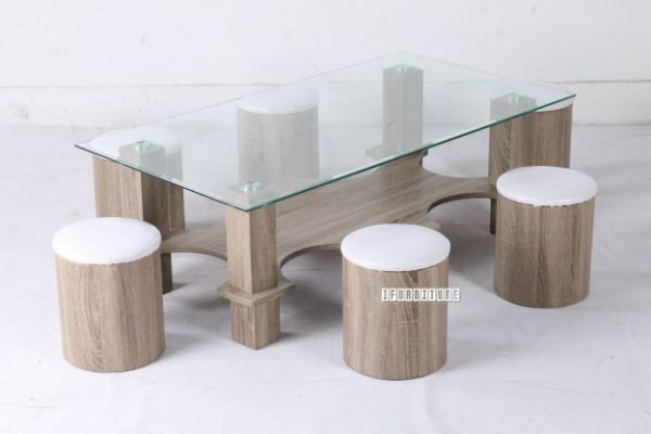 March Coffee Table Stool Set