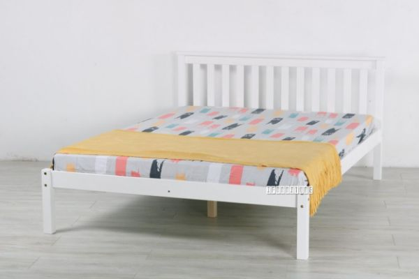 Picture of SNOW WHITE Solid Pine Bed in *Single/ King Single/Double/ Queen Size