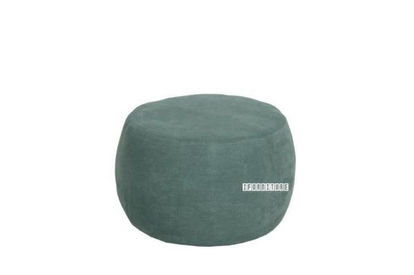 Picture of WEYBURN 60 Fabric Ottoman *Beach Blue