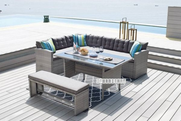 Picture of MILTON Sectional  Sofa + Dining Set