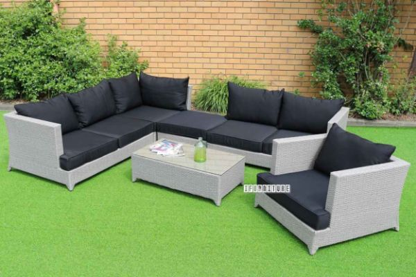 Picture of LAZE 6PC Modular Wicker Sofa Set *ALUMINIUM FRAME